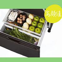 高颜值冰箱选购,顶置压缩机+独特布局的—松下NR-EE53WG-K冰箱