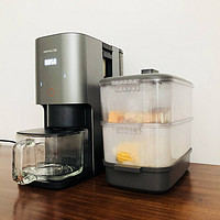 九阳不用手洗豆浆机K2S,除不用手洗还能同时现磨咖啡和蒸海鲜?