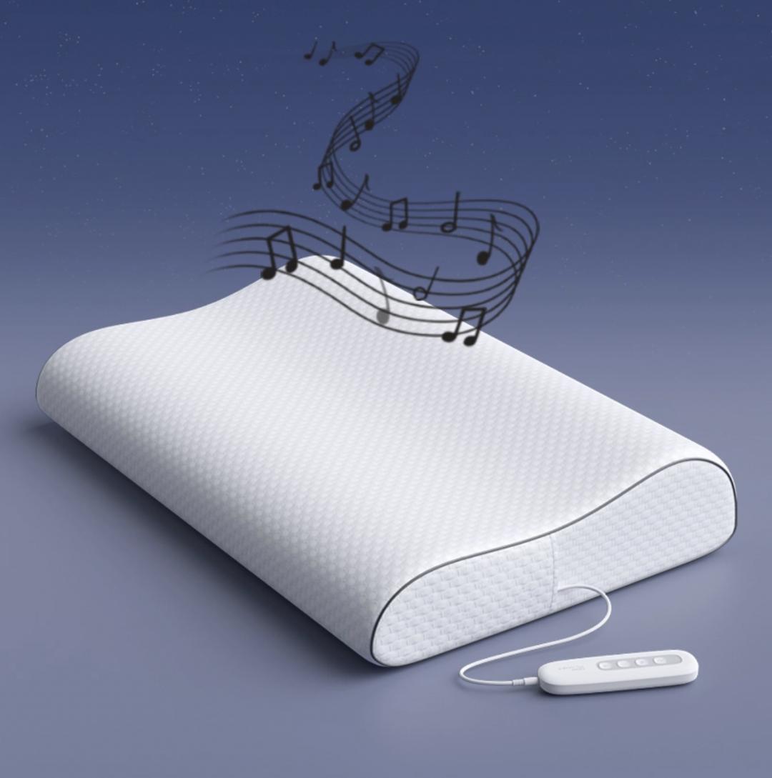 可实时监测心率、呼吸率、睡眠深浅等睡眠数据,MOK PLANET智能音乐伴眠枕你值得拥有!