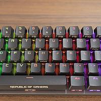 细节控的盛宴优于cherry的出众手感,ROG魔导士NX山楂红轴机械键盘