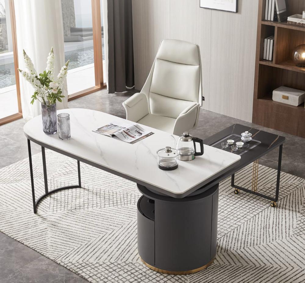 小米有品上新多功能茶桌,抗造岩板台面,360°移动茶车,一体式烧水茶炉~