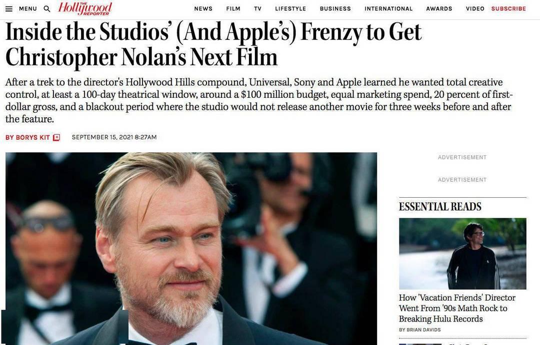不愧是诺兰:2亿美元成本,不准流媒体院线同步,我的电影我说了算