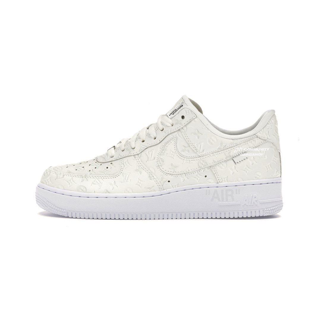 Nike Air Force 1和Louis Vuitton联名鞋款来了!实物图曝光!